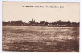 CAMBODGE - PNOM-PENH - Vue Générale Du Quai - Cambodge