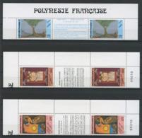 POLYNESIE 1990 N° 368A/370A ** Neufs MNH Superbes C 62 € Légendes Polynésiennes Uru Arbres Perles Chiens Hiro Hina - Polynésie Française