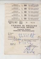 Bolzano Ricevuta Vigili Urbani Guardia Multa 1956 - Historische Dokumente