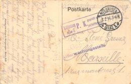 PIE-Z AR-19-1736 : CACHET FRANCHISE POSTALE MULHAUSEN P. K. UBERWACHUNGSSTELLE. 7 FEVRIER 1916. MULHOUSE - Marcophilie (Lettres)