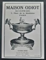 MAISON ODIOT 1920 ORFEVRE PLACE DE LA MADELEINE ART DECO PUBLICITE ANCIENNE ORFEVRERIE PARIS ANTIQUE AD SILVERWARE - Reclame