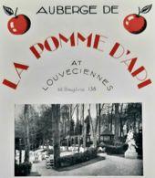 LA POMME D'API AUBERGE LOUVECIENNES 1920 PARIS RESTAURANT GASTRONOMIE PUBLICITE YVELINES LUXE ANTIQUE AD - Publicidad