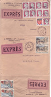 3 Lettres Express 1962/1963 / Oblitération Hayange - Moselle Pour Bienne - Covers & Documents