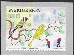 SWEDEN, 2019, MNH, BIRDS, SMALL BIRDS, 1v - Altri