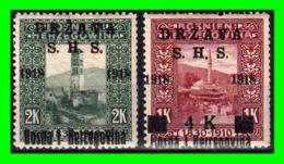 """BOSNA I HERCEGOVINA   DRŽAVA SHS   """"ESTADOS DE LOS ESLOVENOS, CROATAS Y SERBIOS"""" 1918 SOBRECARGADOS - Bosnia And Herzegovina"""