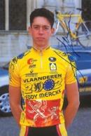 CARTE CYCLISME LEIF HOSTE SIGNEE TEAM VLAANDEREN 1998 - Ciclismo