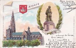185935Anvers, La Cathédrale-La Statue De Van Dyck. (poststempel 1902) - Antwerpen