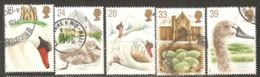 Great Britain: Full Set Of 5 Used Stamps, 600 Years Of Swan Breed, 1993, Mi#1426-1430(2) - 1952-.... (Elizabeth II)
