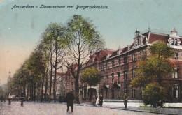 21316Amsterdam, Lineusstraat Met Burgerziekenhuis (zie Hoeken) - Amsterdam