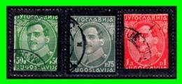 YUGOSLAVIA SELLO AÑO 1934 MUERTE DEL REY ALEXANDER CON EL MARCO EN NEGRO - 1931-1941 Reino De Yugoslavia