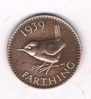 FARTHING 1839 GROOT  BRITANNIE /8651/ - 1902-1971 : Monedas Post-Victorianas