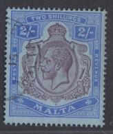 Malta - 1913-19 - 2sh Yv.51 - Used - Malta (...-1964)