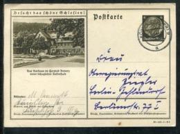 """Deutsches Reich / 1939 / Bildpostkarte """"KURHAUS IM HERZBAD REINERZ"""" Steg-Stempel Koenigsberg (1455) - Deutschland"""