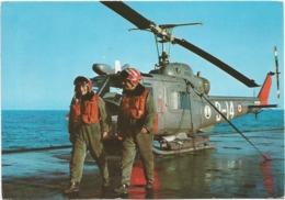 Z5167 Marina Militare Italiana - Elicottero AB204 Sull'incrociatore Andrea Doria - Navi Ships Bateaux / Non Viaggiata - Hélicoptères