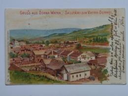 Romania M55 Vatra Dornei Dorna Watra Bad 1904 Litho Ed Leon Konig Czernowitz No 16 Bukowina Cernauti - Rumänien