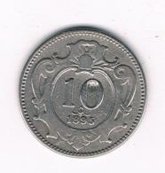 10 HELLER 1895  OOSTENRIJK /8655/ - Austria