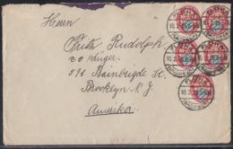 DR Brief Mef Minr.5x 376 Flöha 10.2.26 Gel. In USA - Briefe U. Dokumente