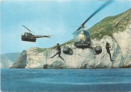 Z5177 Cooperazione Tra Elicotteri E Carabinieri Subacquei / Non Viaggiata - Helicopters