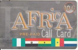 GREECE - Flags, Africa, Teledome Prepaid Card 10 Euro, Used - Grèce