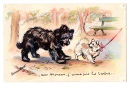 CPA GERMAINE BOURET M D Paris Non Monsieur J'aime Pas Les Barbus .... BOURET N° 1203 MD PARIS - Bouret, Germaine