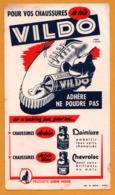 BUVARD - VILDO - Chaussure De Toile Daim - Cuir Blanc CHEVROLAC - Lion Noir - Illust. R. ANSIEAU - Imp. DIEVAL - Shoes