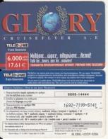 GREECE - GLORY, Teledome Prepaid Card 6000 GRD/17.61 Euro(0800 14444), Exp.date 31/12/03, Used - Grèce