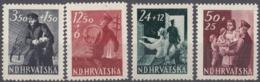 CROAZIA - Lotto Di 4 Valori Nuovi MH: Yvert 134/137, Come Da Immagine. - Croacia