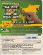 GREECE - Teledome Prepaid Card 2000 GRD/5.87 Euro(dark Green, 0807 7777), Exp.date 31/12/03, Used - Grèce
