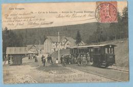 TH0163  CPA  Les Vosges  Col De La Schlucht  - Arrivée Du Tramway Electrique    ++++++++++++++ - Autres Communes
