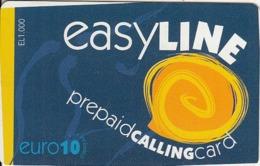 GREECE - Easy Line Prepaid Card 10 Euro, Used - Grèce
