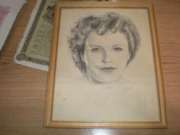 Old Drawing Portrait   Signatures Kuna - Disegni