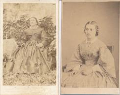 2 CDV Portrait De Femmes - Second Empire - 1 En Extérieur (Ca 1865-1870) - Dos Muet - Old (before 1900)