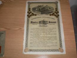 Oesterreichische Nahmaschinen Fabrik Zertifikat - Reclame