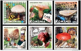 45.- ROMANIA 2008 Mushrooms - Hongos