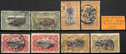 [835958]TB//O/Used-Congo Belge 1909 - N° 50/53, Tb Obl Centrale, Nuances - Congo Belge