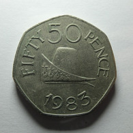 Guernsey 50 Pence 1983 - Guernsey
