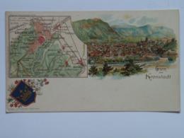 Romania F32 Kronstadt Brasov Braila Gruss Map Litho 1900 - Romania