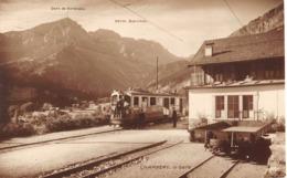CPA  Suisse, CHAMPERY, La Gare,  Carte Photo - VS Valais
