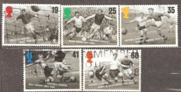 Great Britain: Full Set Of 5 Used Stamps, Football, 1996, Mi#1625-1629 - Oblitérés