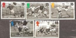 Great Britain: Full Set Of 5 Used Stamps, Football, 1996, Mi#1625-1629 - 1952-.... (Elizabeth II)
