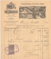 EN 1895 PARIS P LASNIER MANUFACTURE DE CHEMISES FACTURE PUBLICITAIRE ILLUSTRE DOCUMENT COMMERCIAL USINE A VAPEUR AUBIGNY - Frankrijk