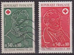 Nicolas Desgenettes - F. Broussais  - FRANCE - Médecins - 1972 - Croix Rouge - N° 1735-1736 - France