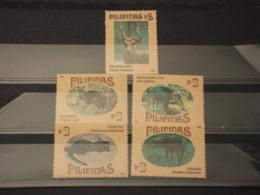 FILIPPINE - 1995 MAMMIFERI 5 VALORI -  NUOVI(++) - Filippine