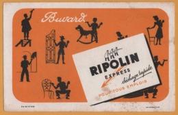 BUVARD - RIPOLIN Express Pour Tous Emplois - Ouvriers - Cheval à Bascule - Fer Forgé - Imp. Marseillaise - Paints