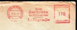 Austria 1951 / Markt Saalfelden Am Steirnernen Meer - Der Burgermeister / Machine Stamp, Flamme, Meter - 1945-.... 2a Repubblica