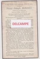 DOODSPRENTJE MAHIEU HENRI ECHTGENOOT LEWILLE RIJSEL (FR) WERVIK 1912 - 1955 BEWERKT TEGEN KOPIEREN - Devotion Images