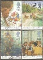 Great Britain: 4 Used Stamps From A Set, 100 Years Of E.Blyton, 1997, Mi#1709-1712 - Oblitérés