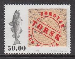 2016 Faroe Islands Fish Skin  Complete Set Of 1  MNH  @ 80% Face Value - Peces
