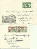 1948-56  Pitcairn Islands   4 Covers Sent To Melle, Belgium - Autres