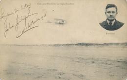 """Aviateur F. FONTEYNE- Texte Et Signature AUTOGRAPHE Sur CP """" L'Aviateur Sur Biplan Caudron """" LE CROTOY Somme - Flieger"""